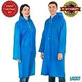 Leger Sport Rain Poncho EVA Waterproof Unisex Women, Men - Lightweight Packable