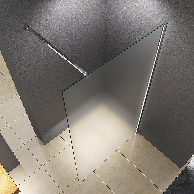 verre de s/écurit/é Paroi de douche BuyLando LILY en verre transparent salle de bain. 100x200 cm // 10 mm