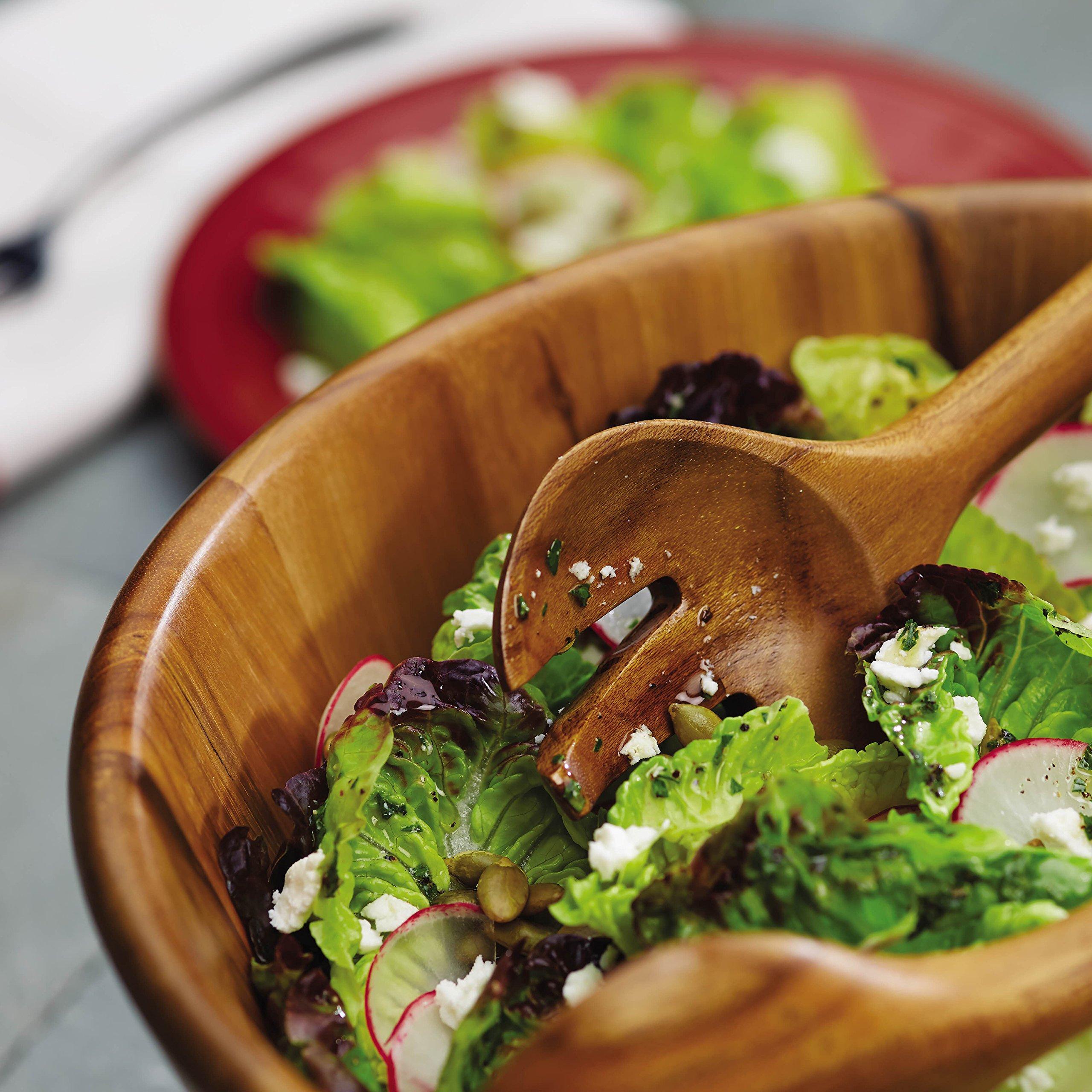 Anolon 46086 Pantryware 3 Piece Salad Set Wood by Anolon (Image #7)