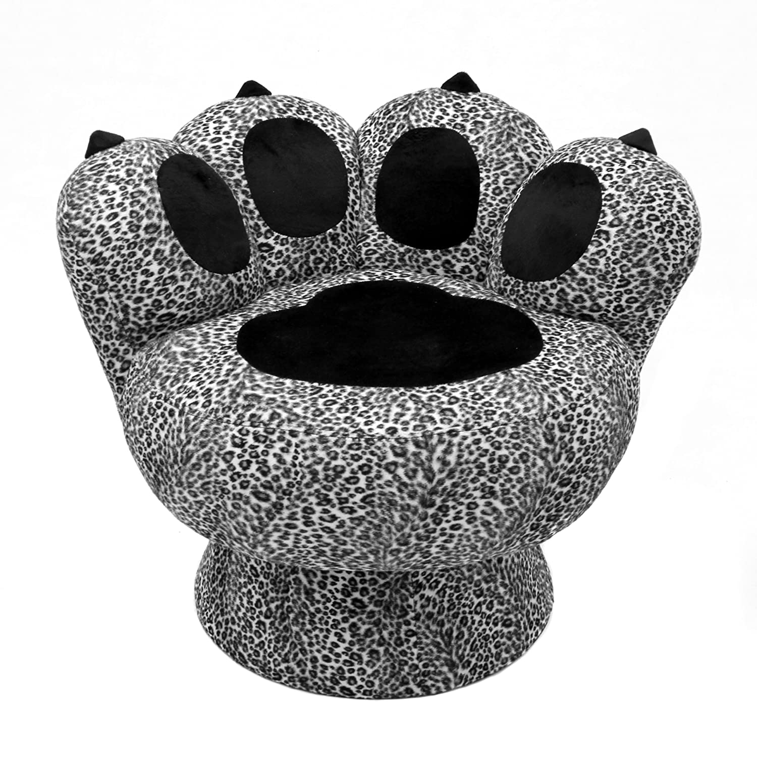 Amazon Com Lumisource Paw Chair Snow Leopard Kitchen Dining