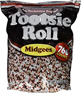 Other Candy, Gum & Chocolate Punctual Tootsie Roll Midgees Chocolate Wrapped 5 Pounds Tootsie Rolls Bulk Candy Food & Beverages