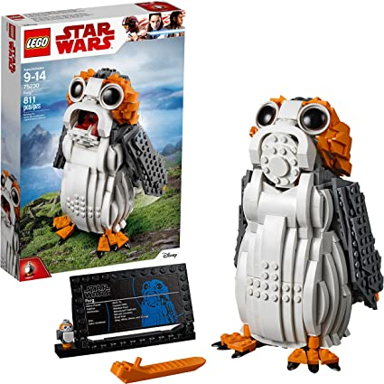 "Figure Set 811 Pieces Age 9 75230 LEGO Star Wars™ Porg 7/"" 19cm New 2018!"