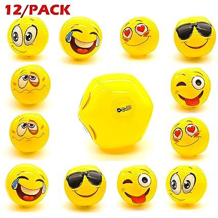 Amazon.com: mrcuya Emoji pelota hinchable de pelotas de ...