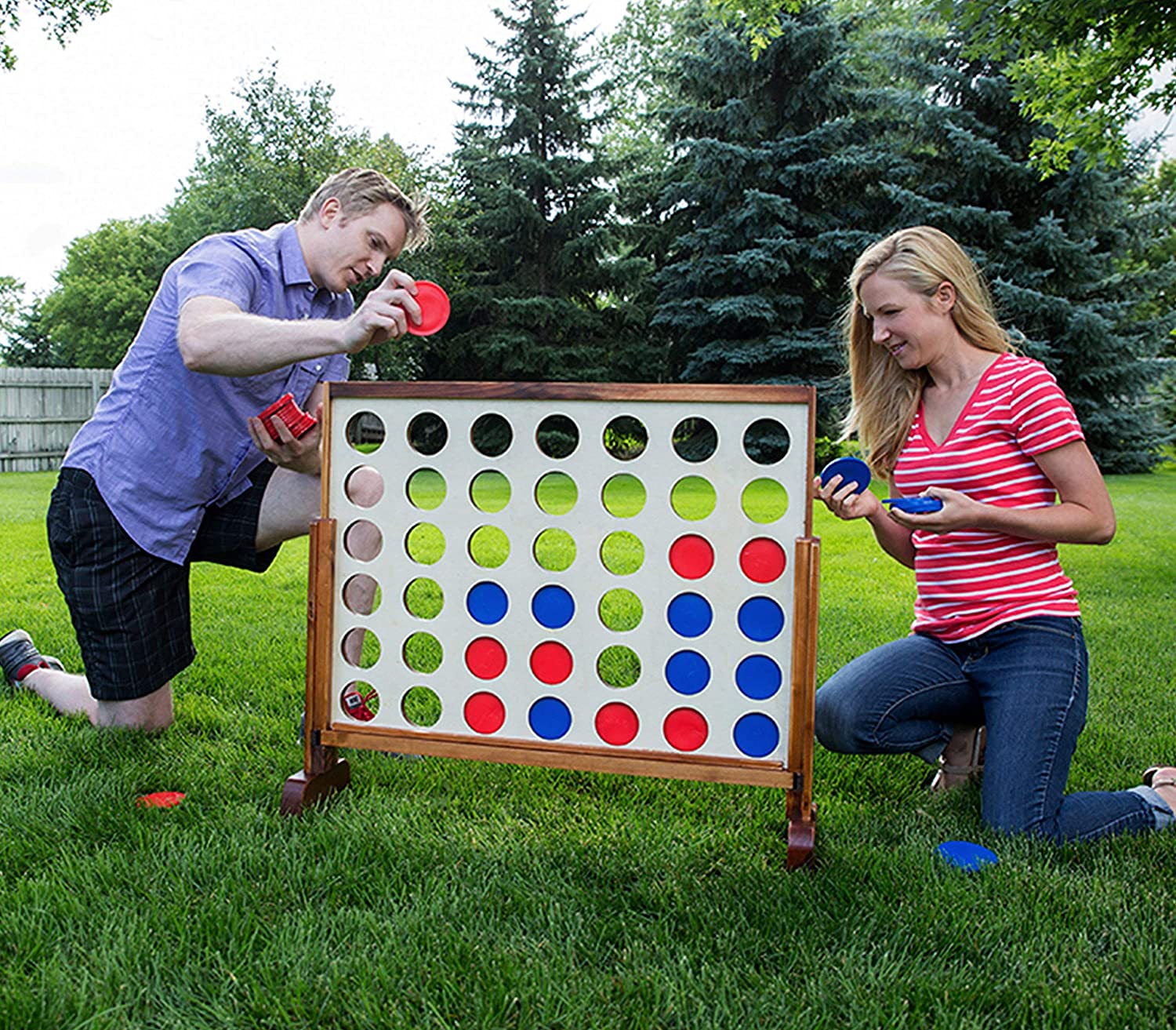 Renewed Yard Games Giant 4 Connect in a Row