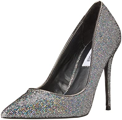 2df2a3e2bd Amazon.com | Steve Madden Women's Daisie Black Multi Dress Closed 7 US |  Pumps