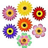Pack of 6 Garden Decor Outdoor Wind Spinner Yard Decoration - Sunflower (Randomly Picked)