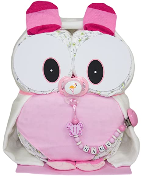 pañales búho Mia en color rosa de Lilly Ghundoo pañales ...