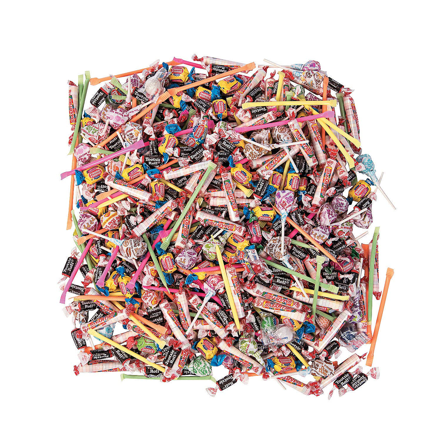 Bulk Candy Individually Wrapped 1000 Pieces (9 lbs) Perfect Parties, Halloween, Parades and Pinatas by Fun Express (Image #1)