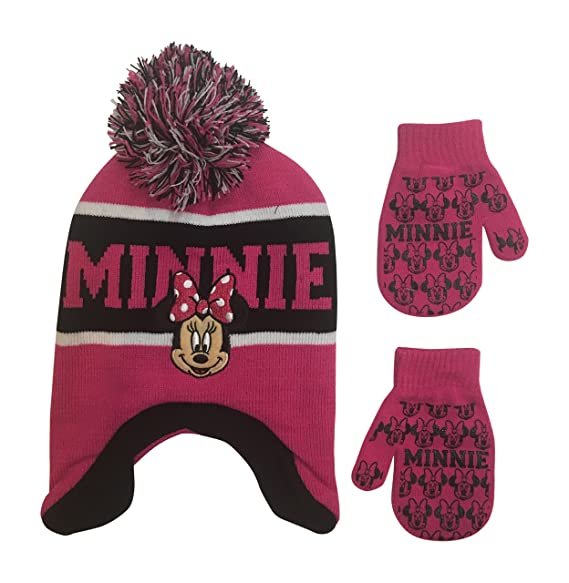 1b7d08f170426 Image Unavailable. Image not available for. Color  Disney Infant   Toddler s  Minnie Mouse Laplander Hat and Mitten Winter Set