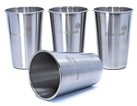 Amazon.com: Greensadi - Juego de 4 vasos apilables de acero ...