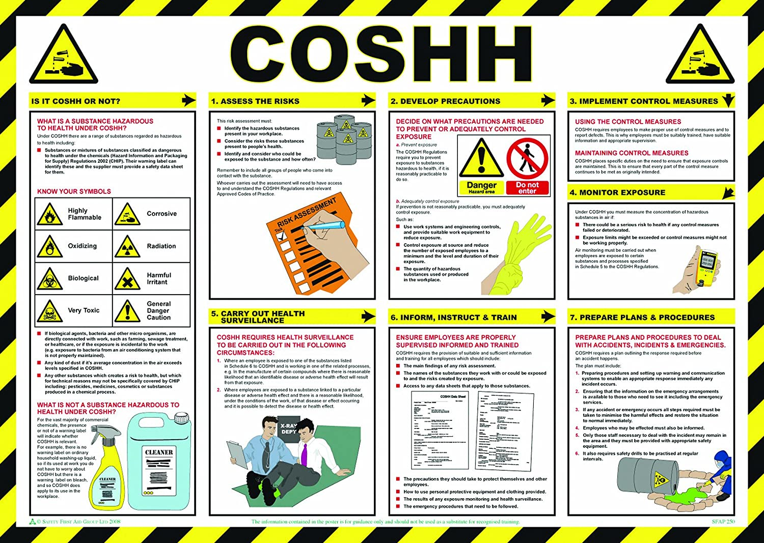 SAFETY FIRST AID A704T Coshh Awareness Poster, 59 x 42 cm: Amazon.co ...