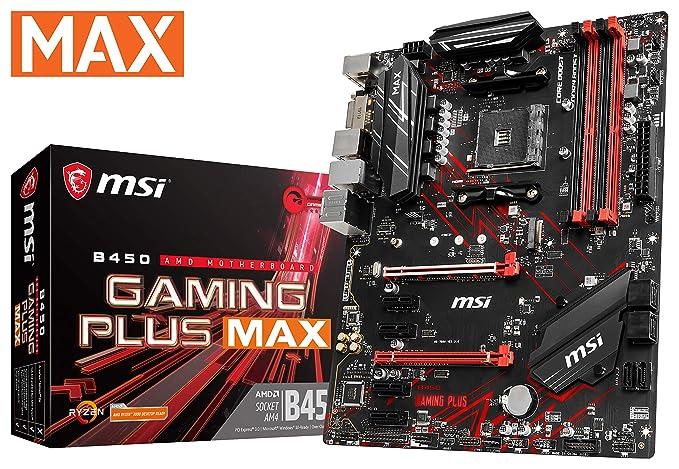 Placa Base de AMD B450 de Atxš4Xpci-Express 1 x 2 xpci-Express 16 x 1 m 2 Memory Ddr4 de 4 x 1 x dvir 1 x hdmi 2 x USB 2.0 de 4 x USB 3.2 x PS/2 x Rj45 6 x Audio Portï B450 Gaming Plusmax