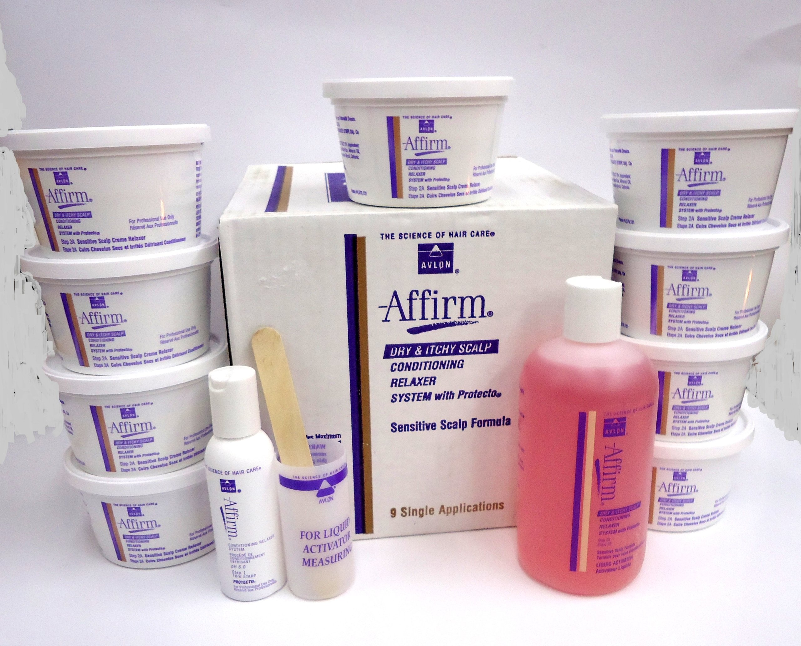 Avlon Affirm Dry & Itchy Scalp Conditioning Relaxer System - sensitive scalp formula - 9 single appl