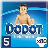 Dodot Bebé-Seco Pañales Talla 5, con Canales de Aire, 11-16 kg - 80 Pañales