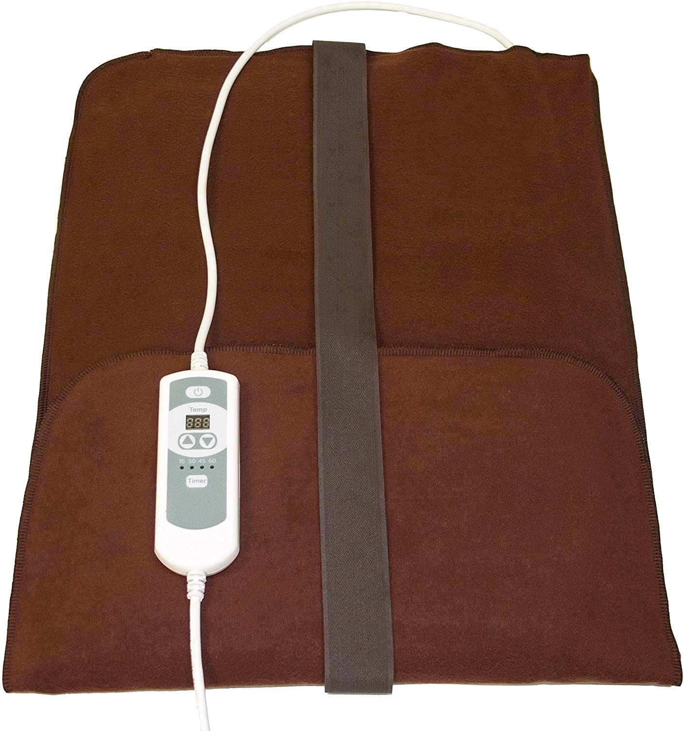 "Natural Relief Extra Large Digital Moist Heating Pad with Coral Sand - Auto Shut Off - Strap - Negative Ion (27""x14"")"