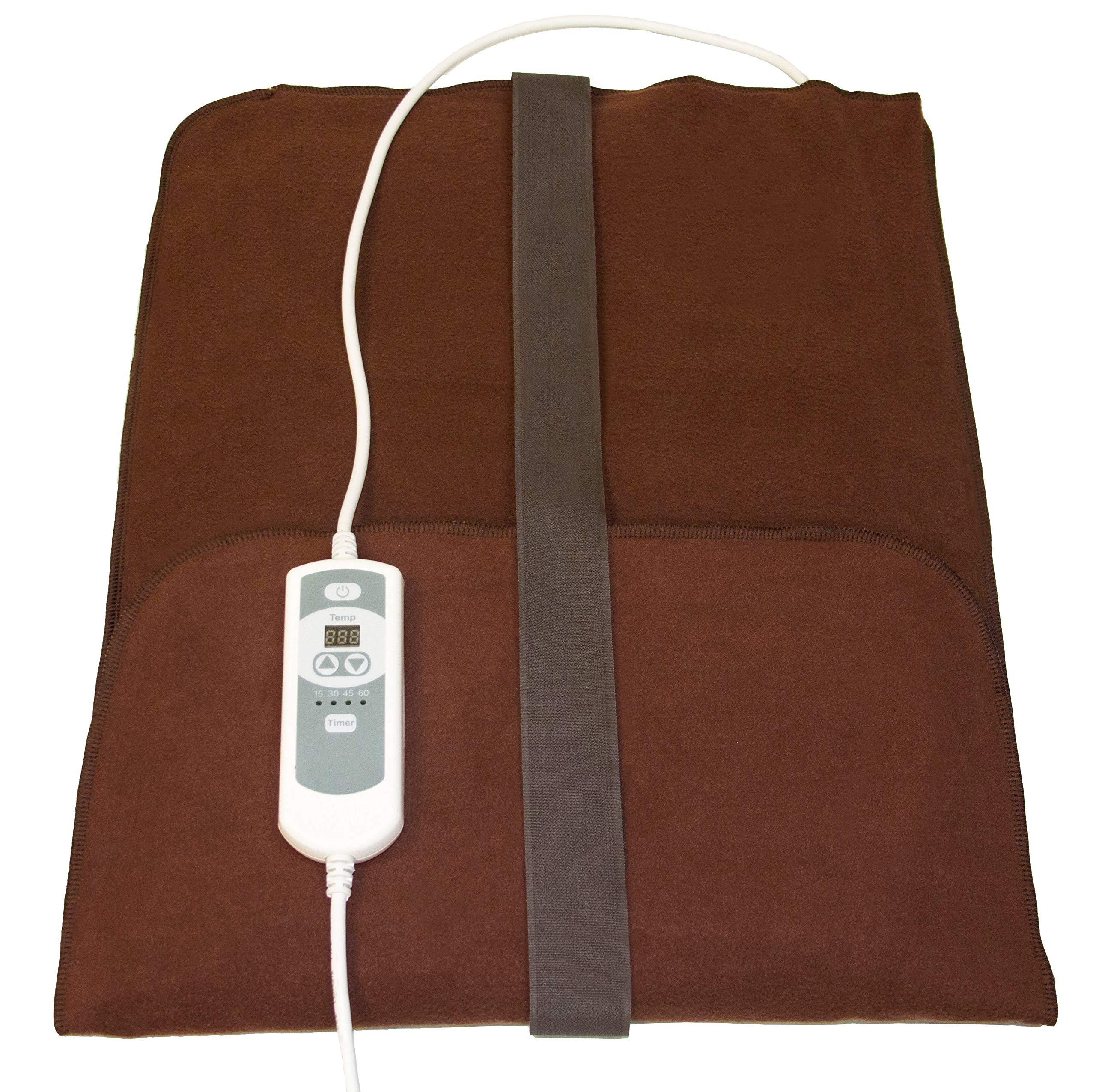 Natural Relief Extra Large Digital Moist Heating Pad with Coral Sand - Auto Shut Off - Strap - Negative Ion (27''x14'')