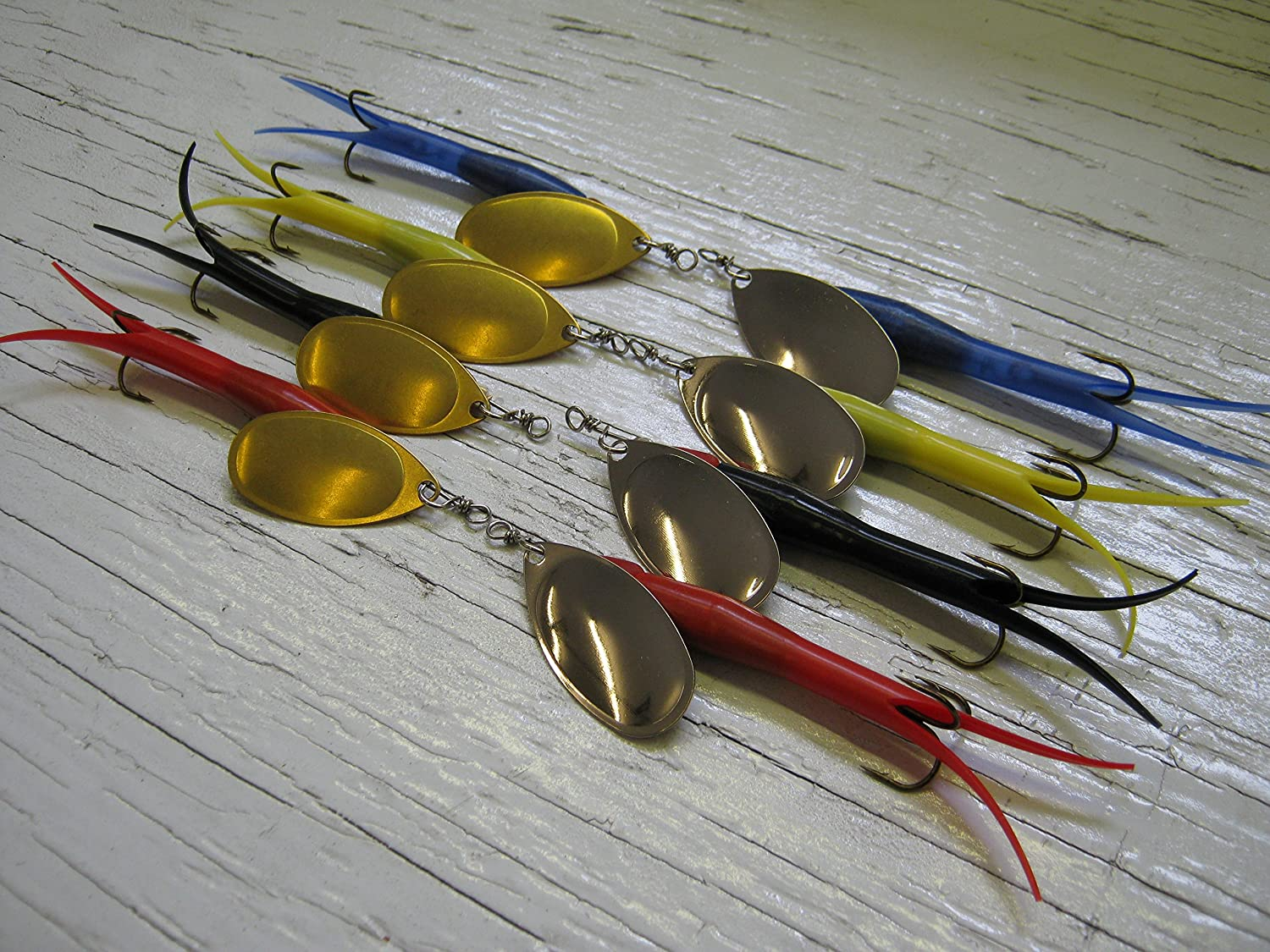 (A8) Flying C Approx 15g #4 French Blade, 8 Items Mixed Colour Body Red Black Blue Yellow Flytec Fishing NI
