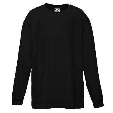 T-shirt Bambino Fruit Of The Loom Maglia Maniche Corte Scuola Recita Bimbi Bimbo Abbigliamento E Accessori T-shirt E Maglie