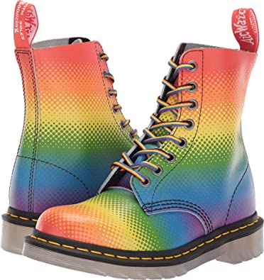 doc martin rainbow boots