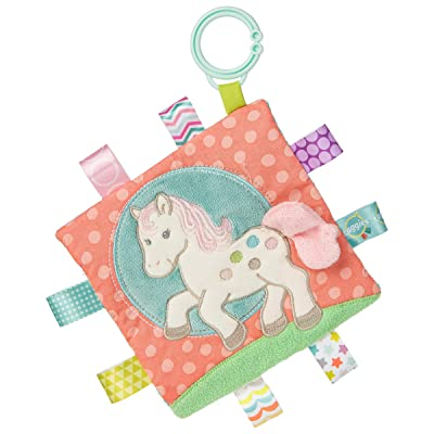 Taggies Soothing Sensory Crinkle Me Toy with Baby Paper and Squeaker, Painted Pony, 6.5 x 6.5-Inches : Baby