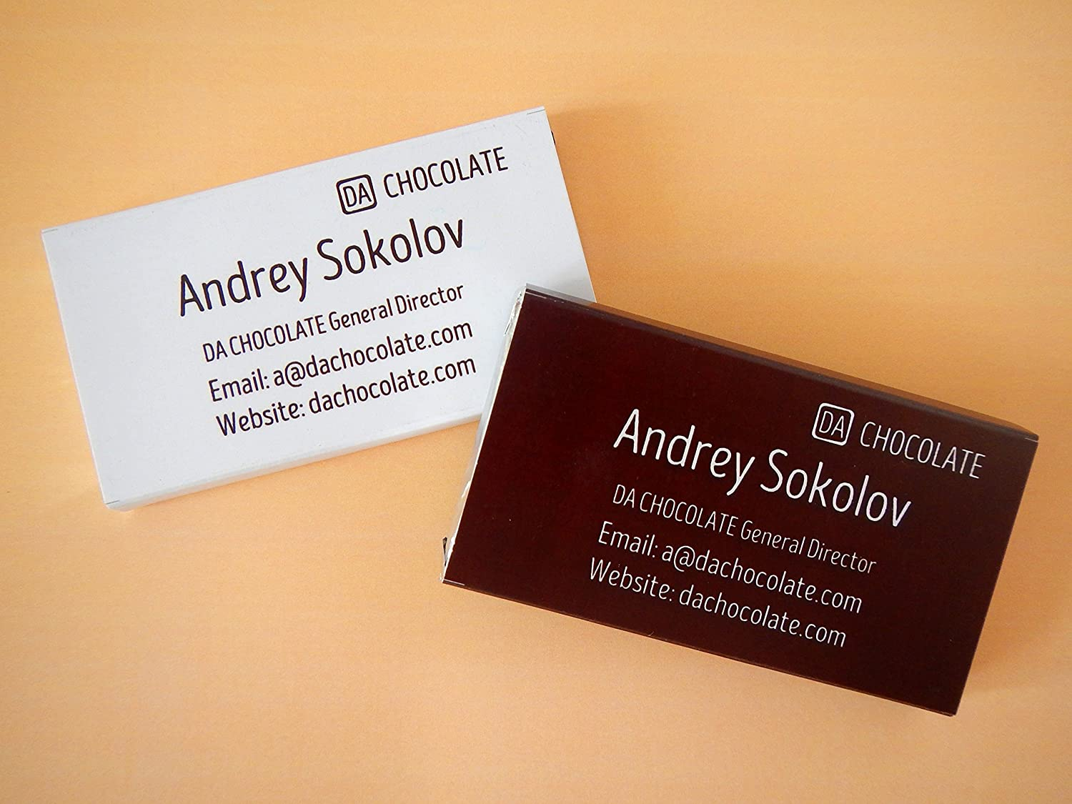 Chocolate business cards! ☎ Great idea for your business!: Amazon ...