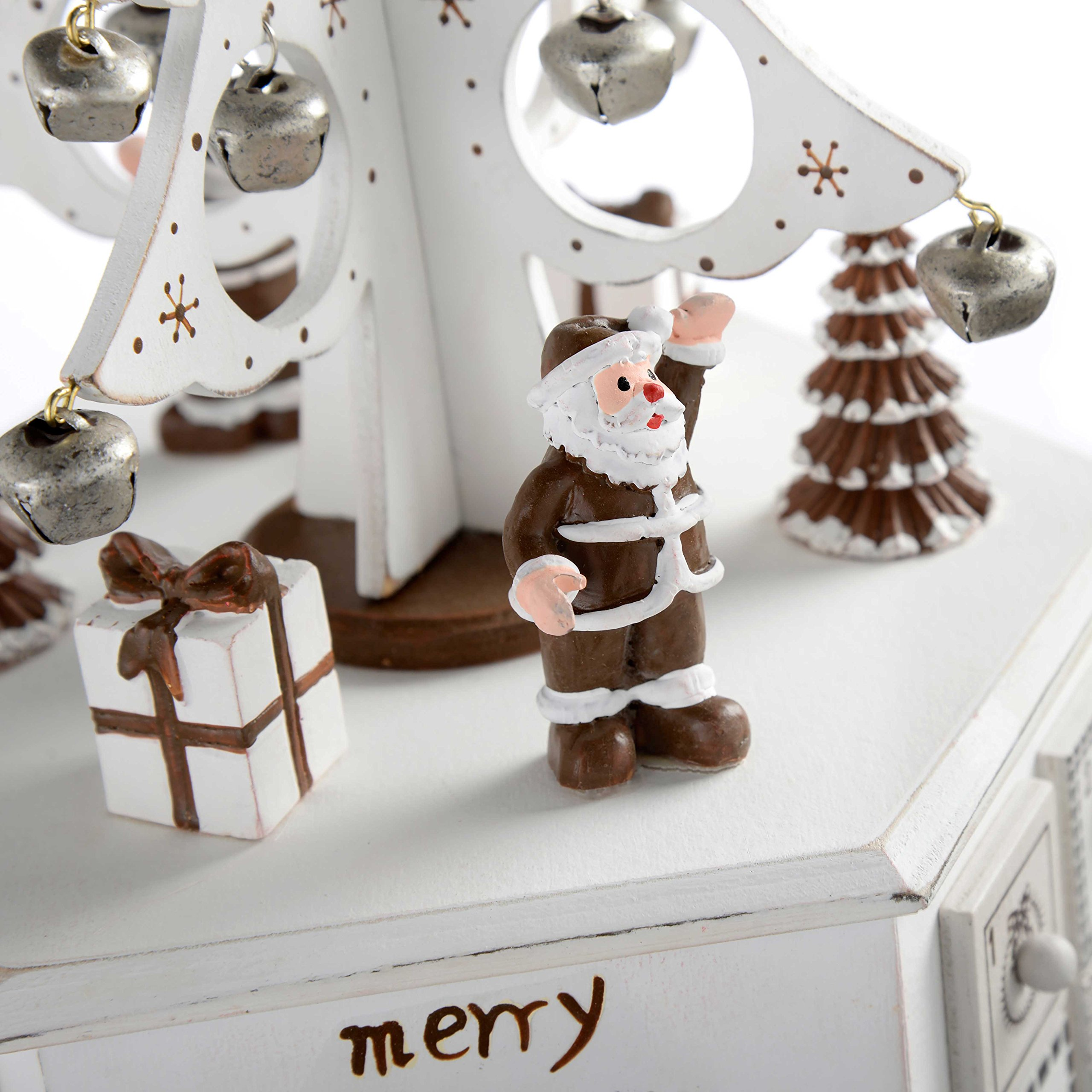 WeRChristmas Wooden Tree Advent Calendar Tower Christmas Decoration, 36 Cm - White by WeRChristmas (Image #4)