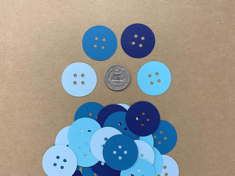 Button Confetti Boy Baby Shower Decor Button Baby Shower Decor Cute as a Button Baby Shower 200 pieces Buttons Shades of Blue Button Confetti