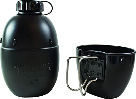 Bushcraft BCB Nato - Cantimplora de agua para bicicletas, con marmita, color negro