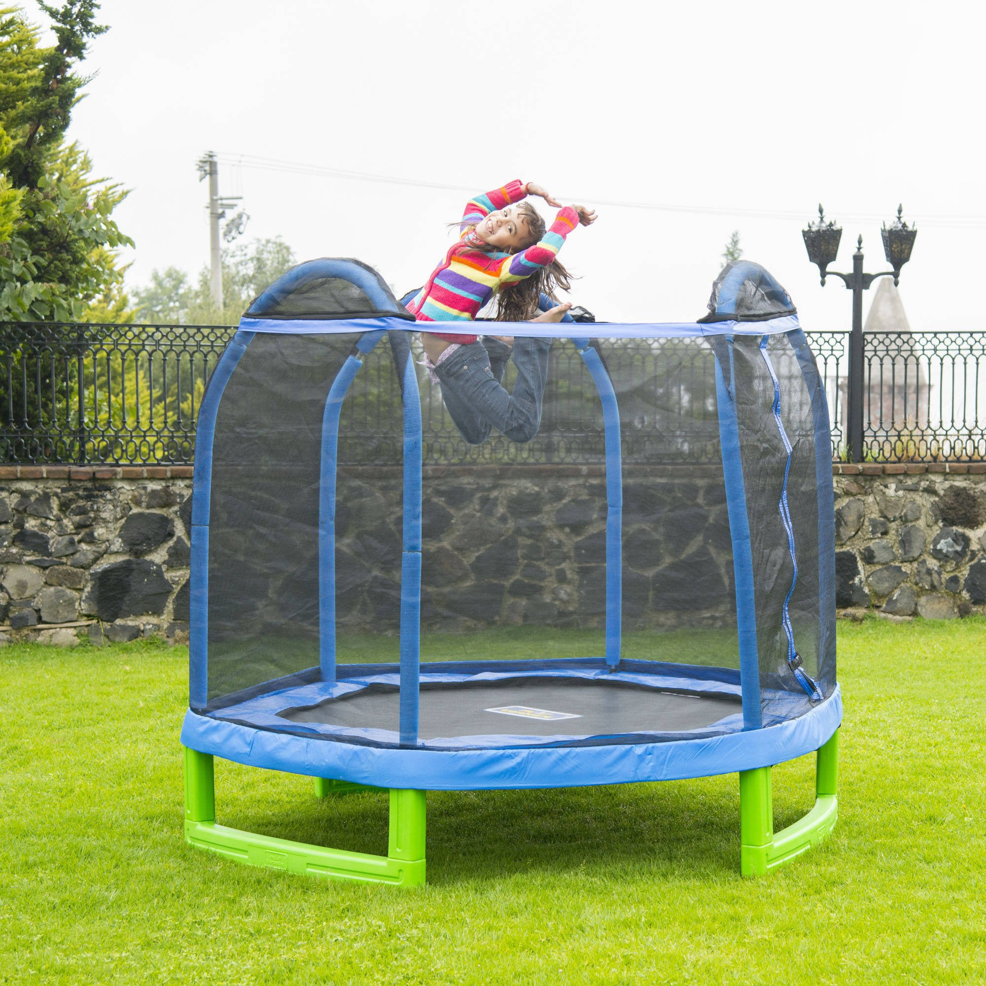 Bounce Pro 7' My First Indoor/Outdoor Entry Level Trampoline For Children