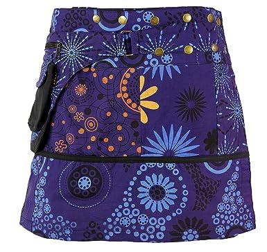 Guru-Shop Wickelrock, Kurzer Goa Rock, Cacheur Lang, Damen, Violett,