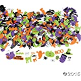 500 Assorted Halloween Foam Craft Stickers - Self Adhesive Shapes