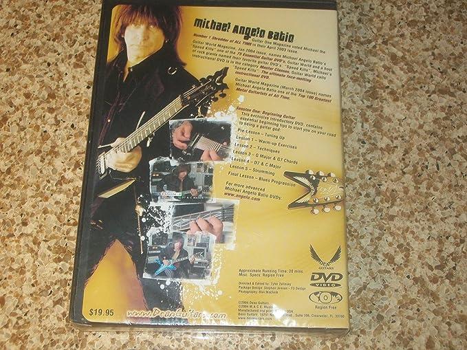 Amazon Michael Angelo Batio Dvd Session One Beginning Guitar