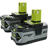 Ryobi P122 ONE+ 18-Volt Lithium Plus High Capacity 4-Ah Batteries (2-Pack of P108)