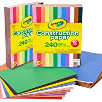 Crayola Construction Paper, 240 Count, 2-Pack (total 480 count)