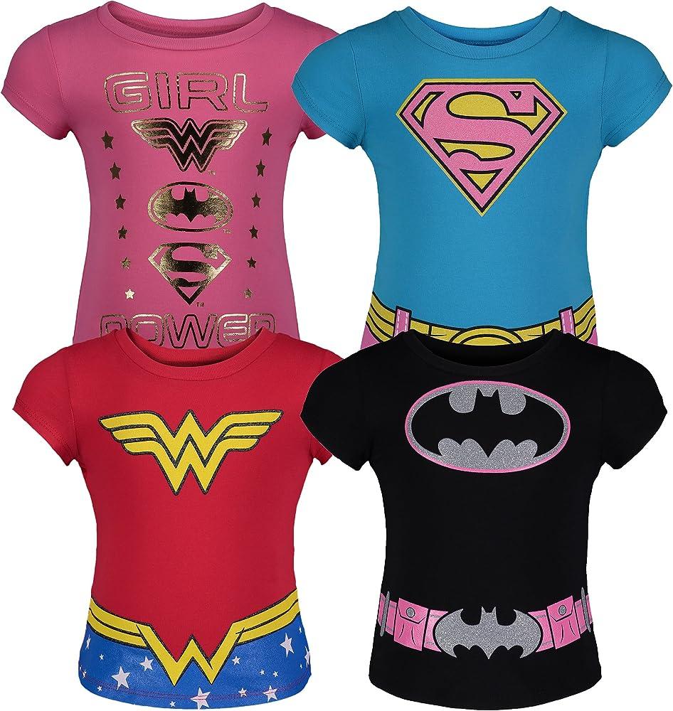 DC Comics Camisetas de Manga Corta de Divertidas de Superheroínas ...