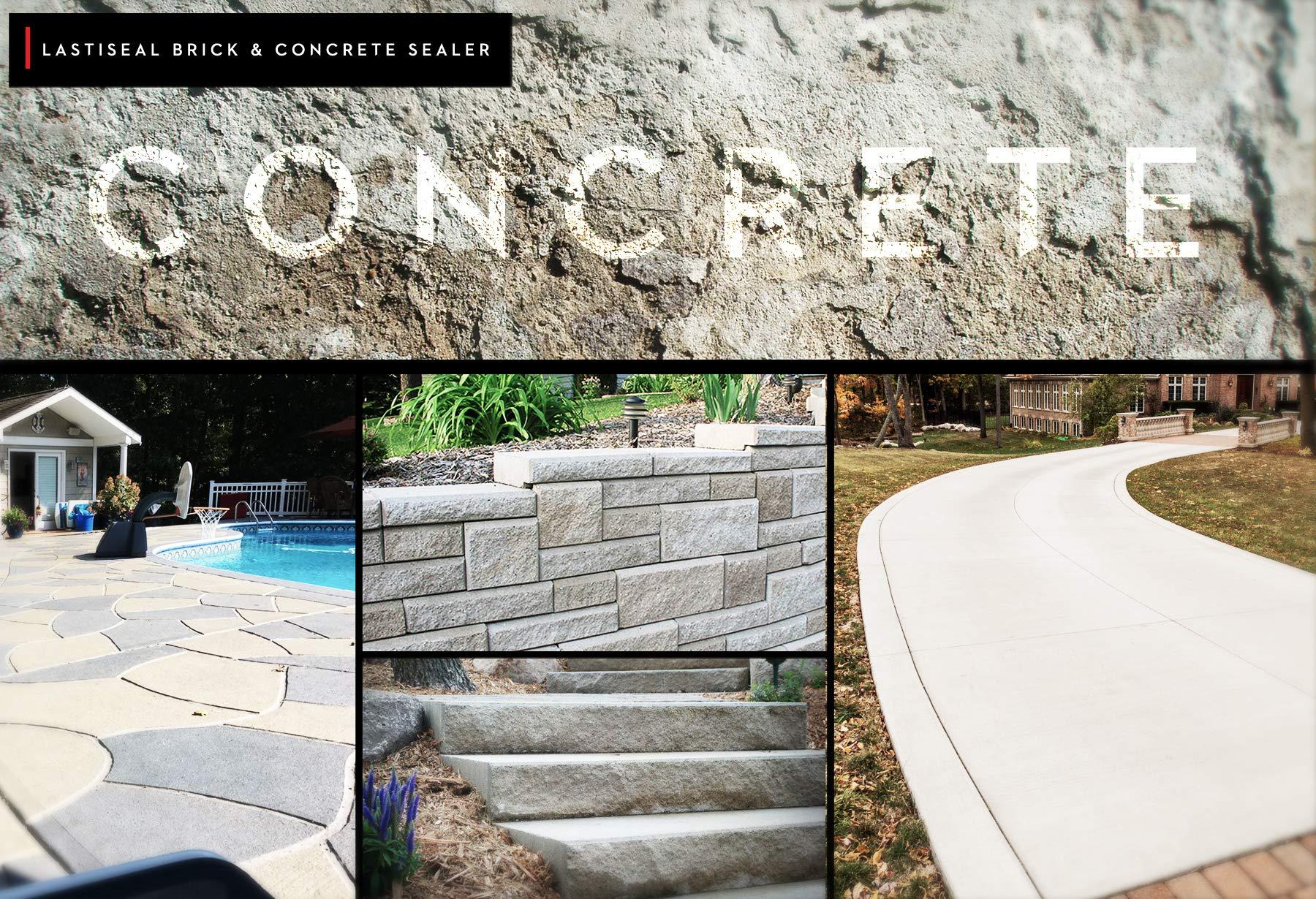 LastiSeal Brick & Concrete Sealer - SATIN Finish (5-gal) | All Purpose Sealer for Brick, Concrete, Stone, Porous Masonry | 15-Year Waterproofing Warranty | Low Gloss Sheen by RadonSeal (Image #3)