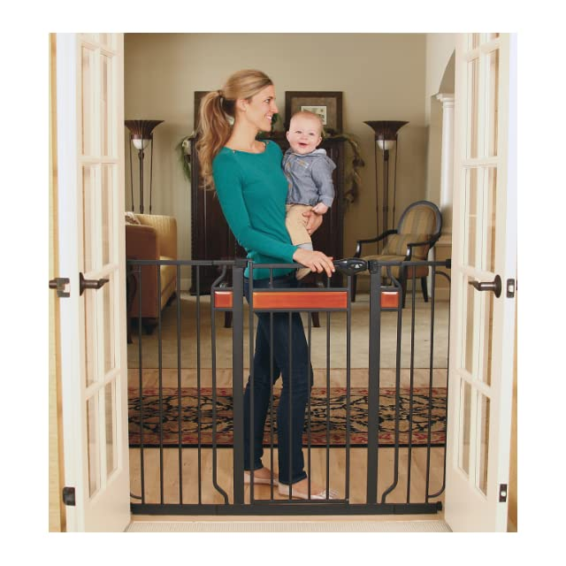 Regalo Easy Open 52 Inch Super Wide Walk Thru Gate   White