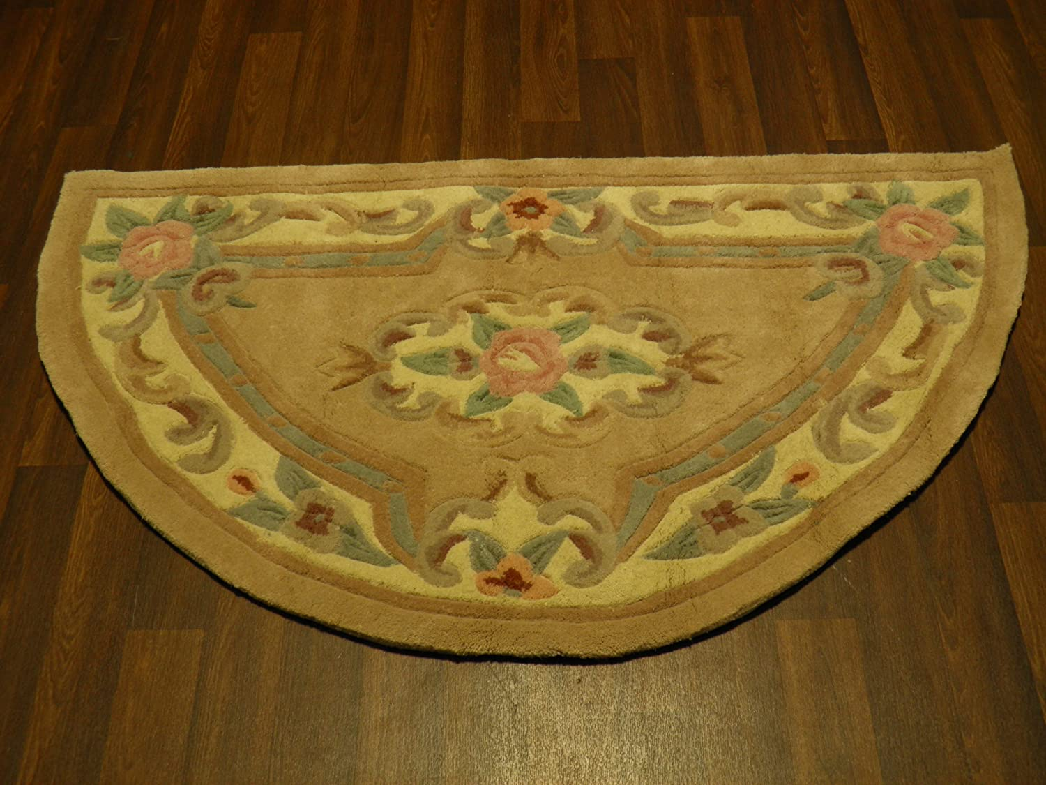 Half Moon Kitchen Rugs Traditional Semi Circle Classic Oriental Persian Style Floral Half