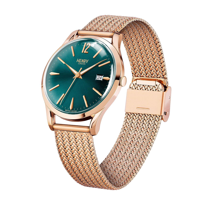 Henry London Reloj Analógico para Unisex de Cuarzo con Correa en Acero Inoxidable 5018479077718: Henry London: Amazon.es: Relojes