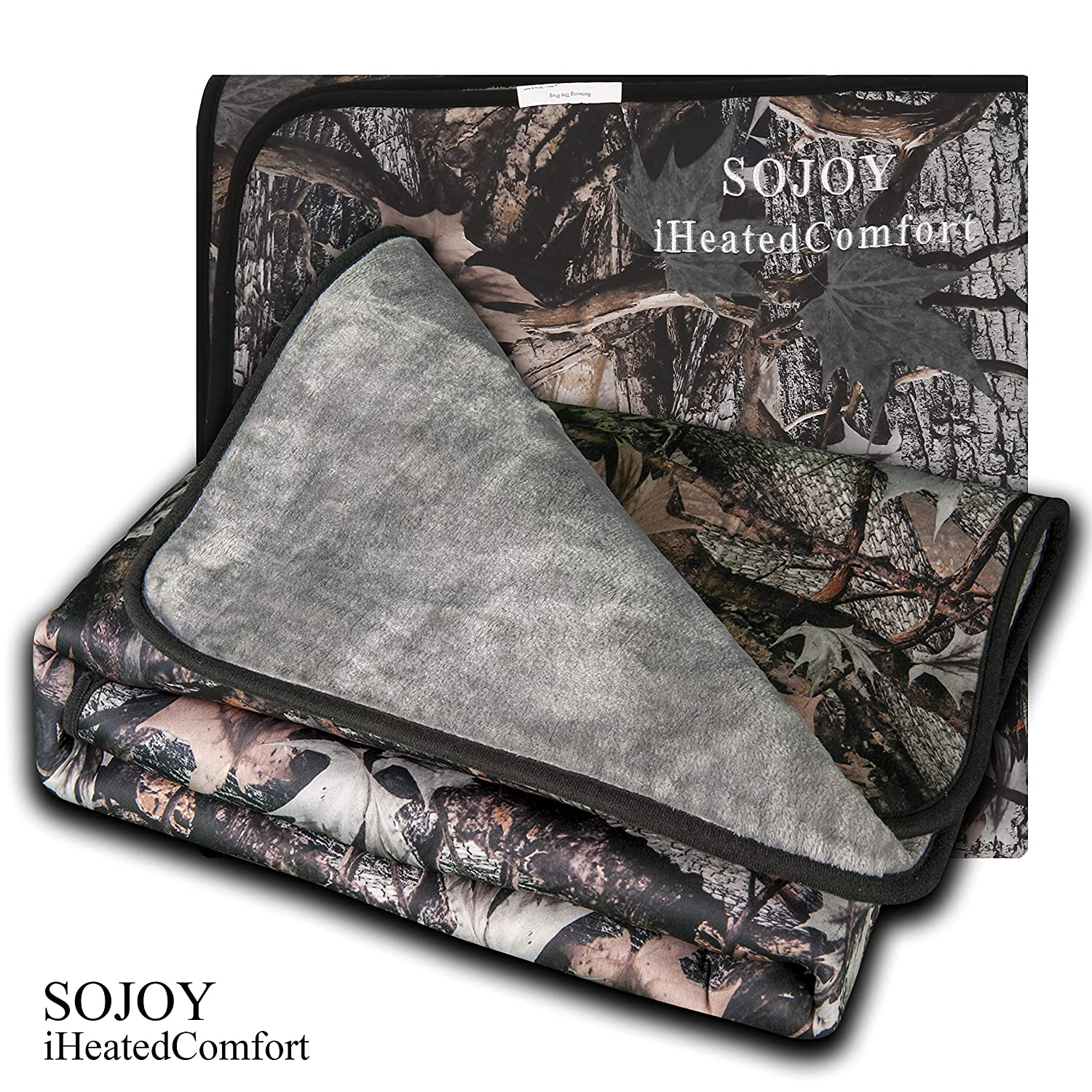 Sojoy 12V Electric Heated Travel Blanket for Car, Truck, Boats or RV with High/Mid/Low Temp Control, Multi-Function Smart Timing (59'x40') (Camouflage) Multi-Function Smart Timing (59x40) (Camouflage) Sojoy Auto Accessories