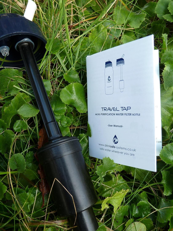 2020 drinkSAFE Robinet de voyage pliable avec micro filtre de purification avec support de protection isol/é et cordon