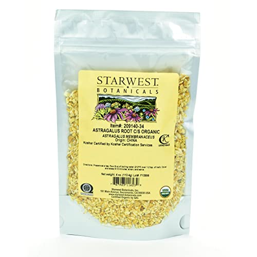 Starwest Botanicals Organic Astragalus Root Cut and Sifted