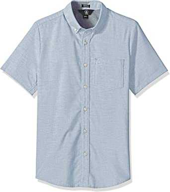 Volcom Everett Oxford S/S Camisa con Cuello Abotonado para Hombre
