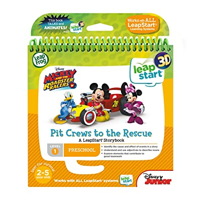 Leapstart Nursery: Mickey & The Roadster Racers Pit Crews to The Rescue Story Book (3D Enhanced): Toys & Games