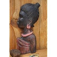 amicaso - Maschera africana in legno, realizzata a mano