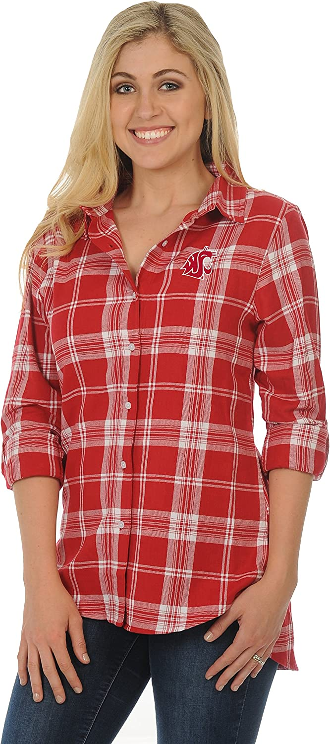 UG Apparel NCAA Womens Front Pleat Button-up 1