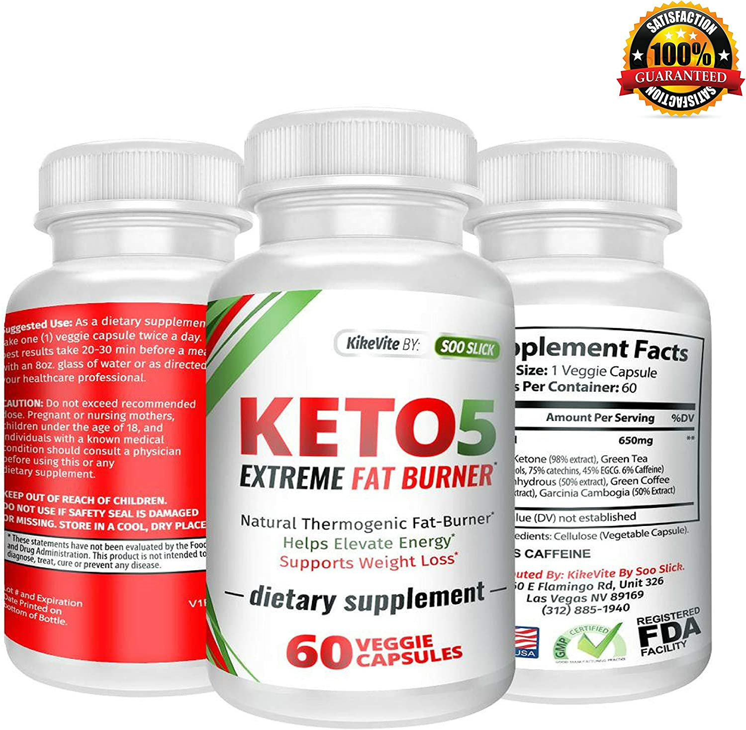 Keto-5 Extreme Fat Burner – Supports Healthy Weight Loss, Mental Focus Clarity 60 Ct. Extra Strength Ketogenic Supplement Pills