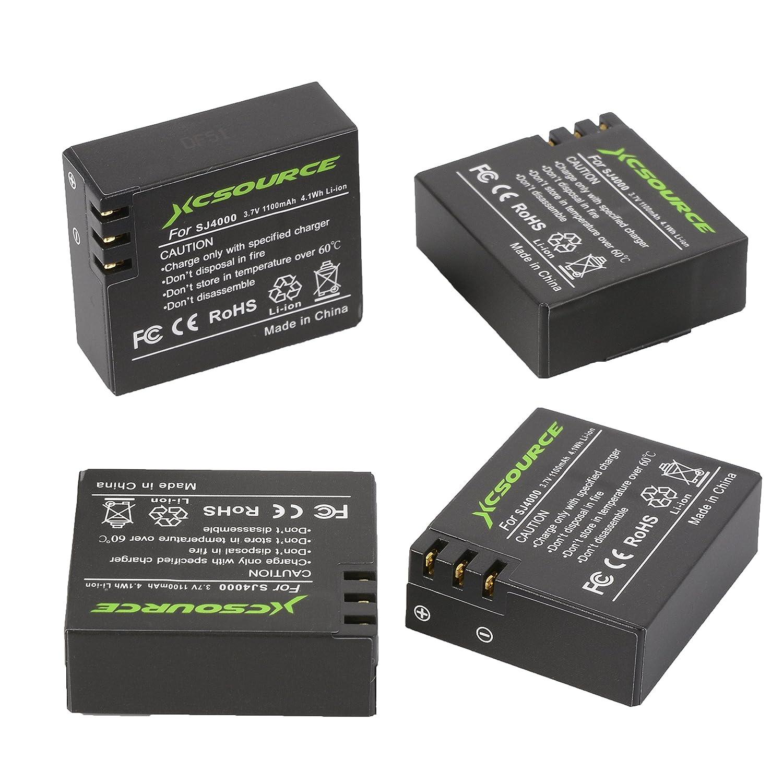 Amazon.com: XCSOURCE 4 x 3.7 V 1100 mAh Batería + USB ...