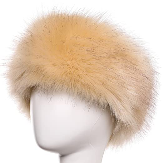 Yetagoo Faux Fur Headband For Women Winter Earwarmer Earmuff Hat Ski (Beige) 879d05211803