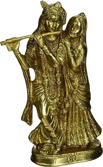 Marriage Anniversary gifts Divine Couple. 37 CM Ivory Look Dust Marble Radha Krishna Sculpture Hindu Gods of love Radha Krishna Statue